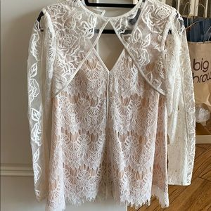 Stylestalker off white lace top